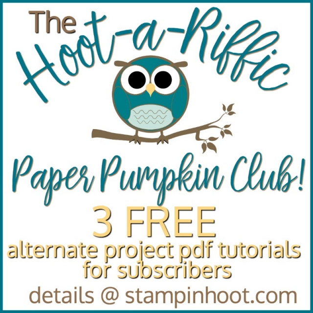 Hoot-a-Riffic Paper Pumpkin Club