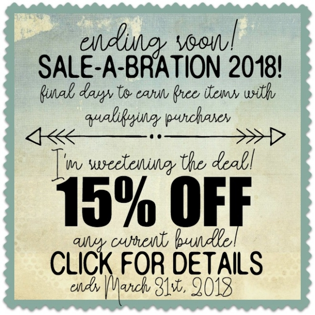 SALE-A-BRATION 15% OFF CURRENT BUNDLES