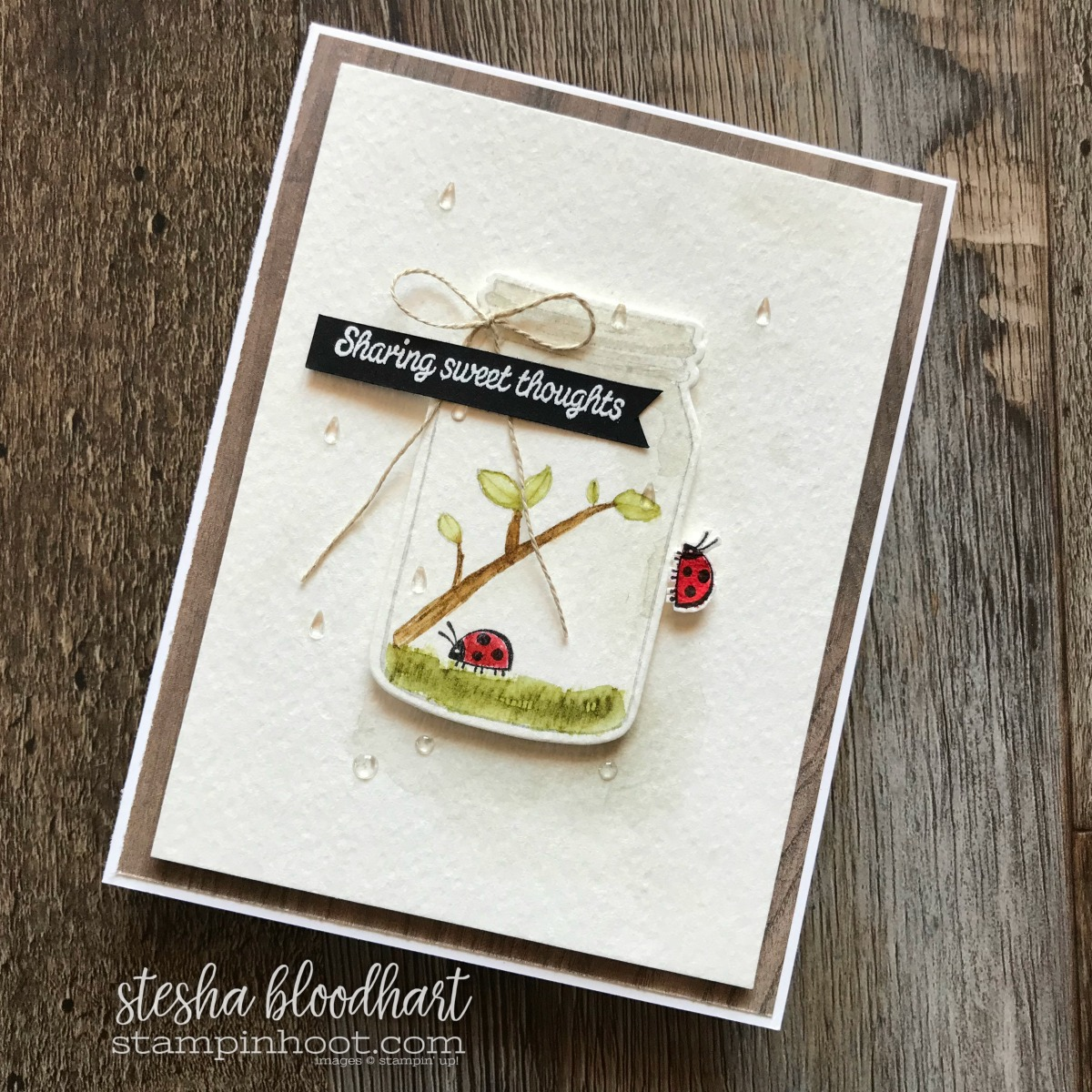 Sharing Sweet Thoughts Stamp Set by Stampin' Up! Proceeds to Ronald McDonald House with Every Purchase. Card Created by Stesha Bloodhart for Spring Has Sprung Pals Blog Hop! #steshabloodhart #stampinhoot