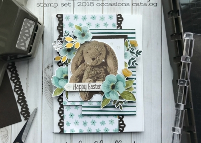 Sweet Little Something Stamp Set by Stampin' Up! From the 2018 Occasions Catalog. Easter Card by Stesha Bloodhart, Stampin' Hoot! for #gdp131 Theme Challenge