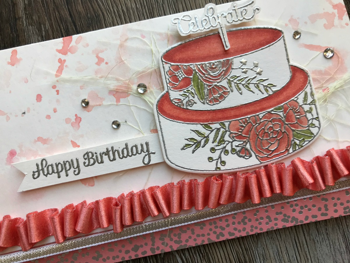 Cake Soirée for #tgifc150 Sketch Challenge Birthday Card by Stesha Bloodhart, Stampin' Hoot! Bundle by Stampin' Up! 2018 Occasions Catalog #steshabloodhart #stampinhoot