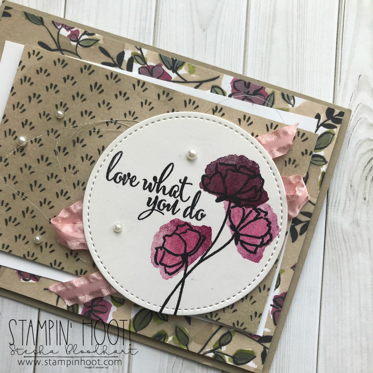 Share What You Love Suite Early Release Available May 1st - 31st 2018. Card created by Stesha Bloodhart, Stampin' Hoot! #steshabloodhart #stampinhoot #tgifc157