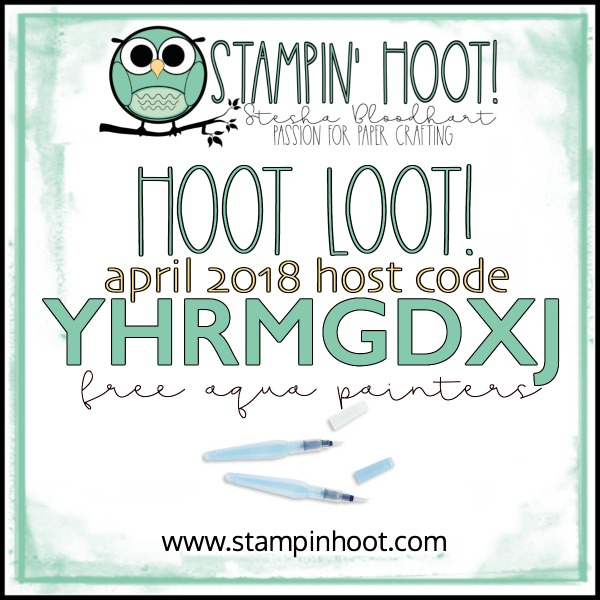 April 2018 Stampin' Hoot! Free Hoot Loot! Aqua Painters