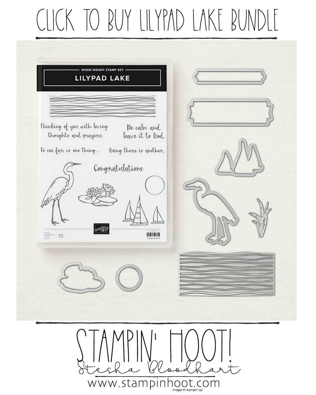 Click to Buy the Lilypad Lake Bundle by Stampin' Up! Available June 1st, 2018. Shop with Stampin' Hoot! Stesha Bloodhart #steshabloodhart #stampinhoot