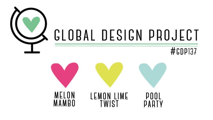 GDP137 Color Challenge Melon Mambo, Lemon Lime Twist, Pool Party