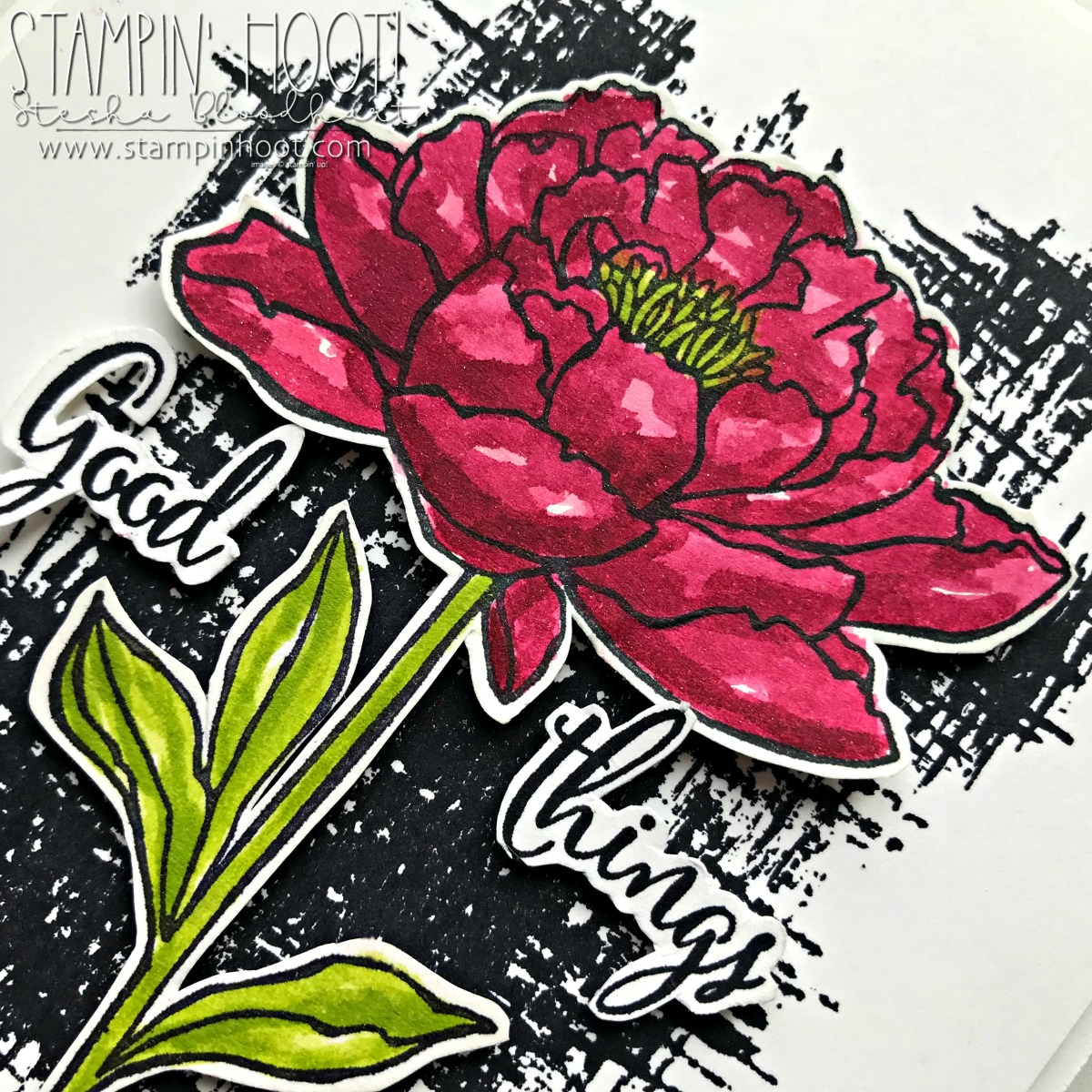 You've Got This Stamp Set by Stampin' Up! Available Until May 31st, 2018 or While Supplies Last. Card Created by Stesha Bloodhart, Stampin' Hoot for the #tgifc158 Color Challenge. #steshabloodhart #stampinhoot