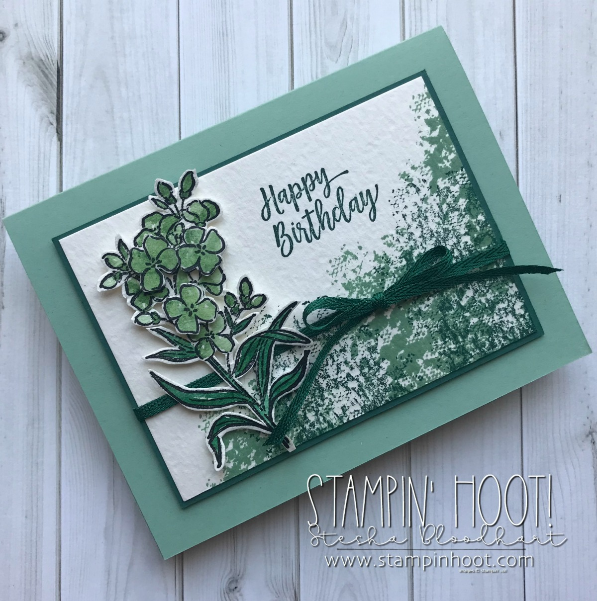 Southern Serenade Stamp Set by Stampin' Up! Happy Birthday Card created by Stesha Bloodhart, Stampin' Hoot! for GDP140 Case the Designer Challenge #steshabloodhart #stampinhoot