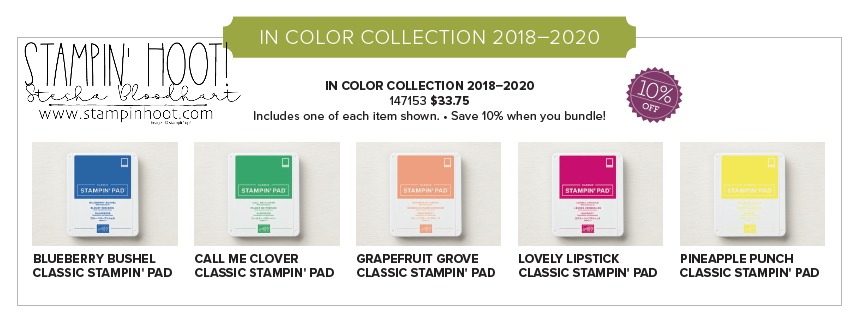 Stampin' Up! 2018-2020 In-Color Stampin' Pads Now Available to Purchase!