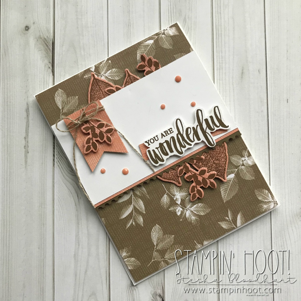 Rooted In Nature Bundle by Stampin' UP! Available June 1st, 2018. Card created by Stesha Bloodhart, Stampin' Hoot! for #GDP138 Sketch Challenge. #steshabloodhart #stampinhoot