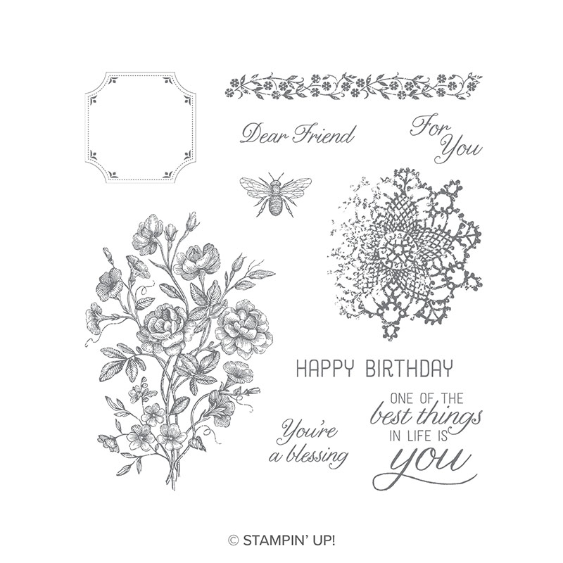 VERY VINTAGE CLEAR MOUNT STAMP SET BY STAMPIN' UP! HOSTESS EXCLUSIVE. SHOP WITH STESHA BLOODHART, ONLINE 24/7