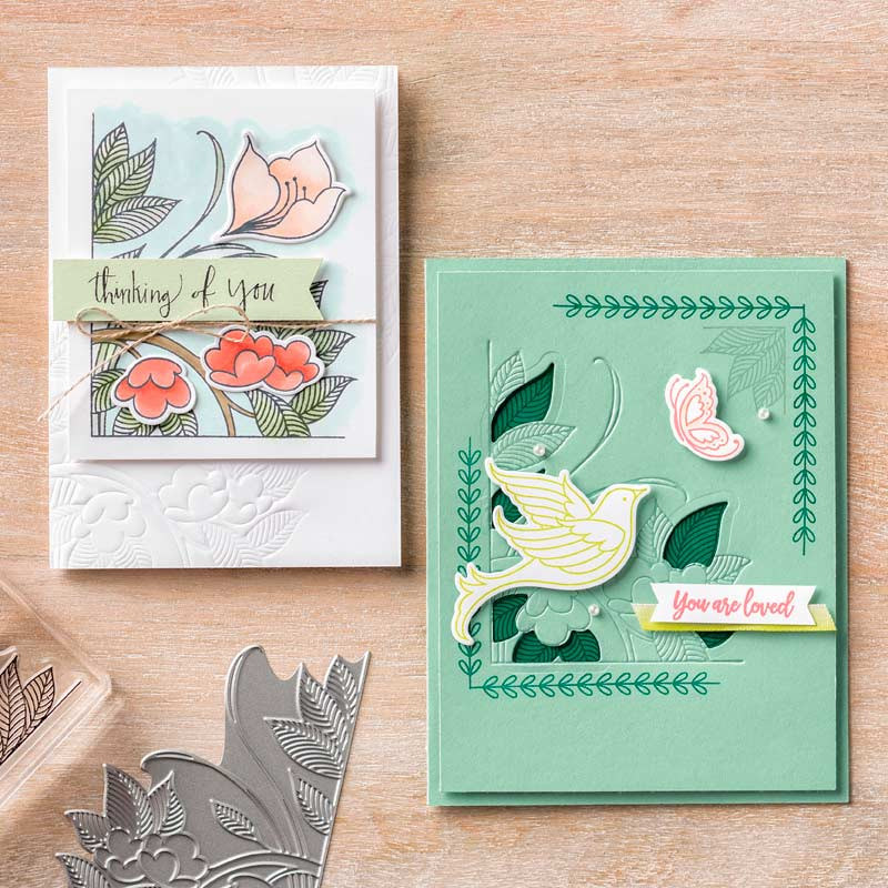 Beautiful Peacock Stamp Set, Level One Free Item during Sale-A-Bration by Stampin' Up! Shop with Stampin' Hoot! Stesha Bloodhart #steshabloodhart #stampinhoot #saleabration2018