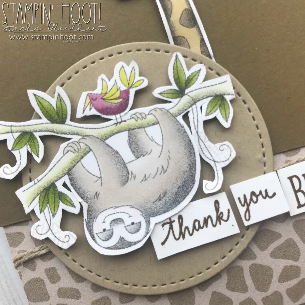 Animal Expedition Suite of Products from 2018-2019 Annual Stampin' Up! Catalog. Card by Stesha Bloodhart, Stampin' Hoot! #steshabloodhart #stampinhoot #gdp142