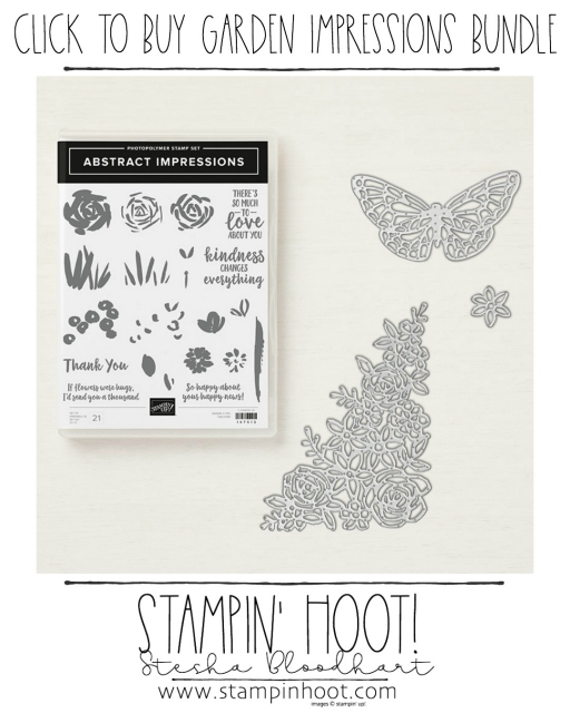 Abstract Impressions Bundle by Stampin' Up! Shop Online with Stesha Bloodhart, Stampin' Hoot! #stampinhoot #steshabloodhart