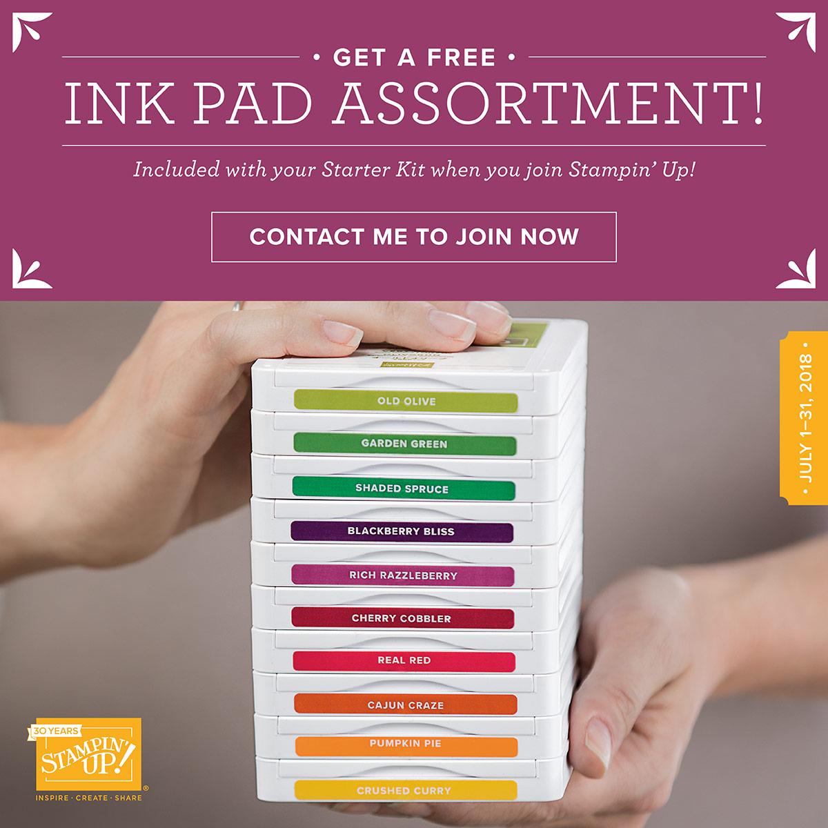 Free Ink Pad Starter Kit Promotion