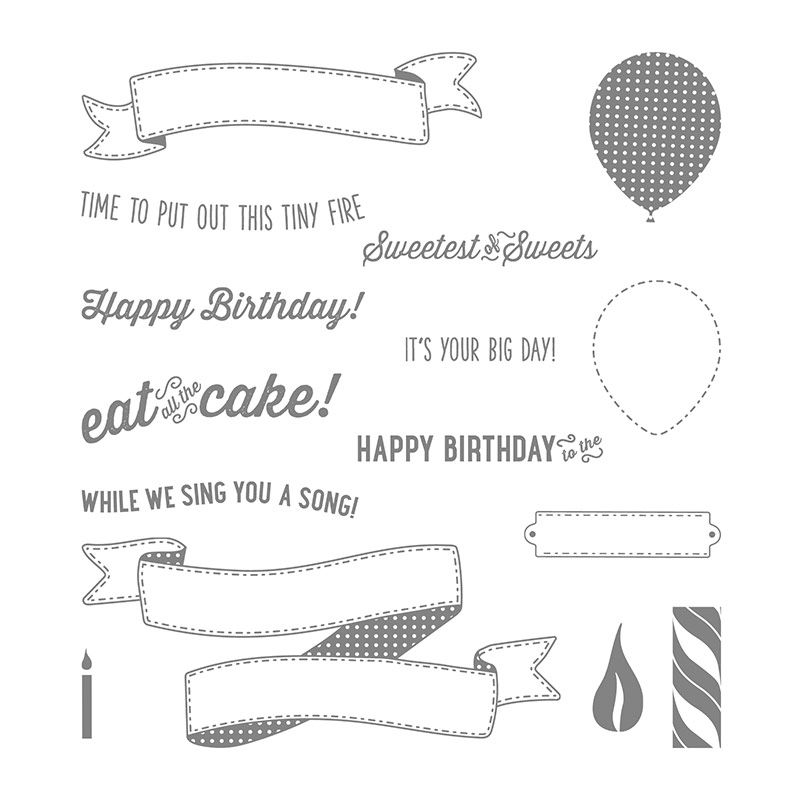 Birthday Banners Photopolymer Stamp Set by Stampin' Up! 141506 Shop online with Stesha Bloodhart, Stampin' Hoot! #steshabloodhart #stampinhoot
