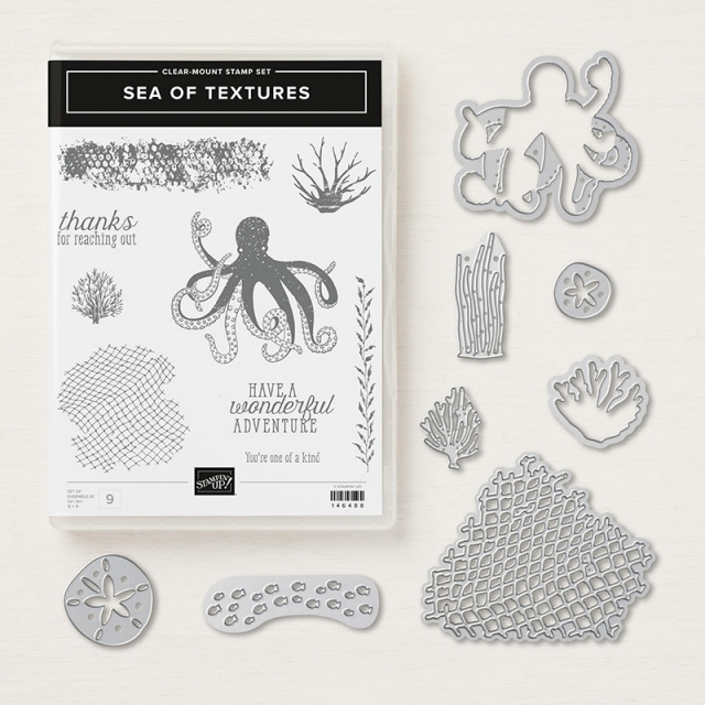 Sea of Textures Bundle by Stampin' Up! Shop with Stesha Bloodhart, Stampin' Hoot!