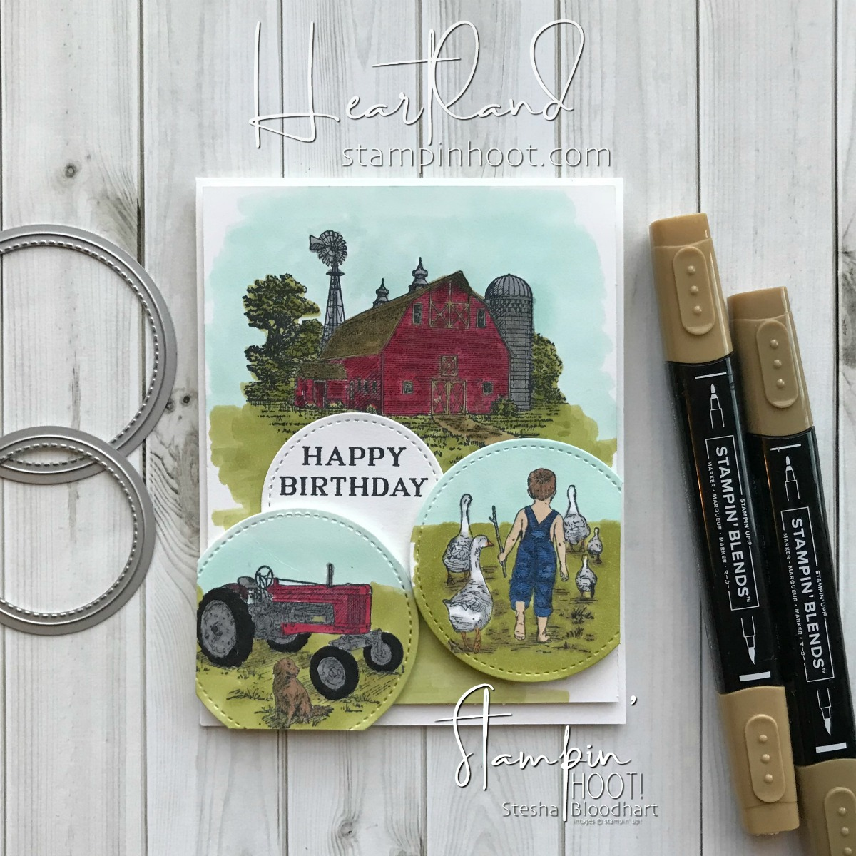 Heartland Stamp Set by Stampin' Up! for the #gdp147 Theme Challenge Country / Farm Life #steshabloodhart #Stampinhoot