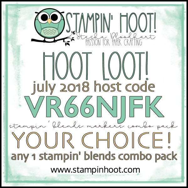 JULY FREE HOOT LOOT, STAMPIN' BLENDS COMBO PACK