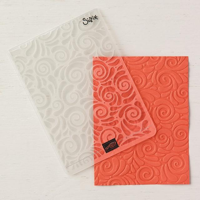 Swirls & Curls Embossing Folder 147923