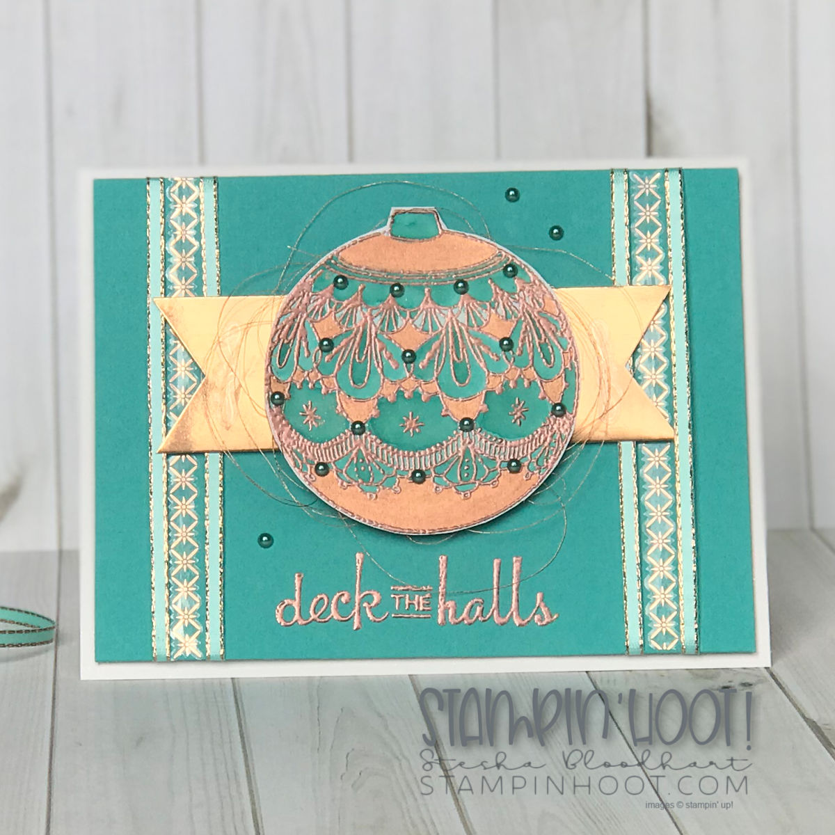 Beautiful Baubles Bundle by Stampin' Up! for #tgifc177 Sketch Challenge, Christmas Card created by Stesha Bloodhart, Stampin' Hoot! #steshabloodhart #stampinhoot
