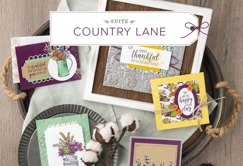 Country Lane Suite of Products by Stampin' Up! Shop Online 24/7 with Stesha Bloodhart, Stampin' Hoot! #steshabloodhart #stampinhoot