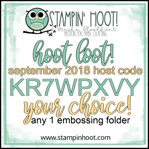 Free Hoot Loot August 2018 - Your Choice of Any One Embossing Folder - Shop with Stesha Bloodhart, Stampin' Hoot! #steshabloodhart #stampinhoot
