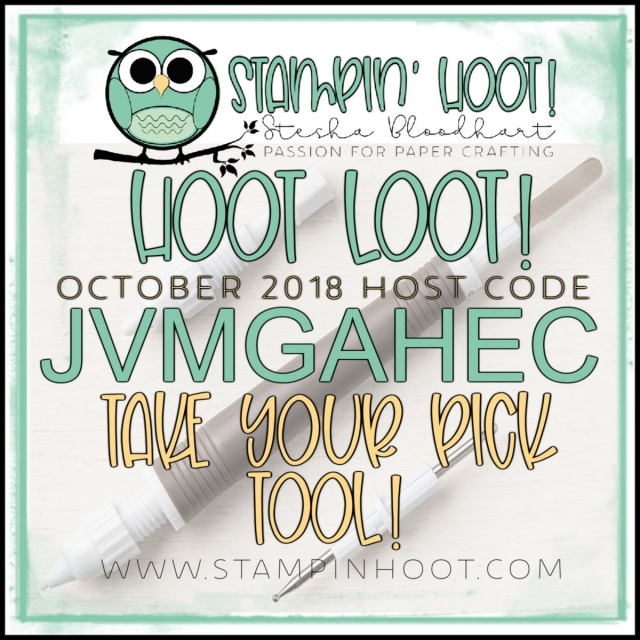 Stampin' Hoot! October 2018 Hoot Loot Free Take Your Pick Tool!