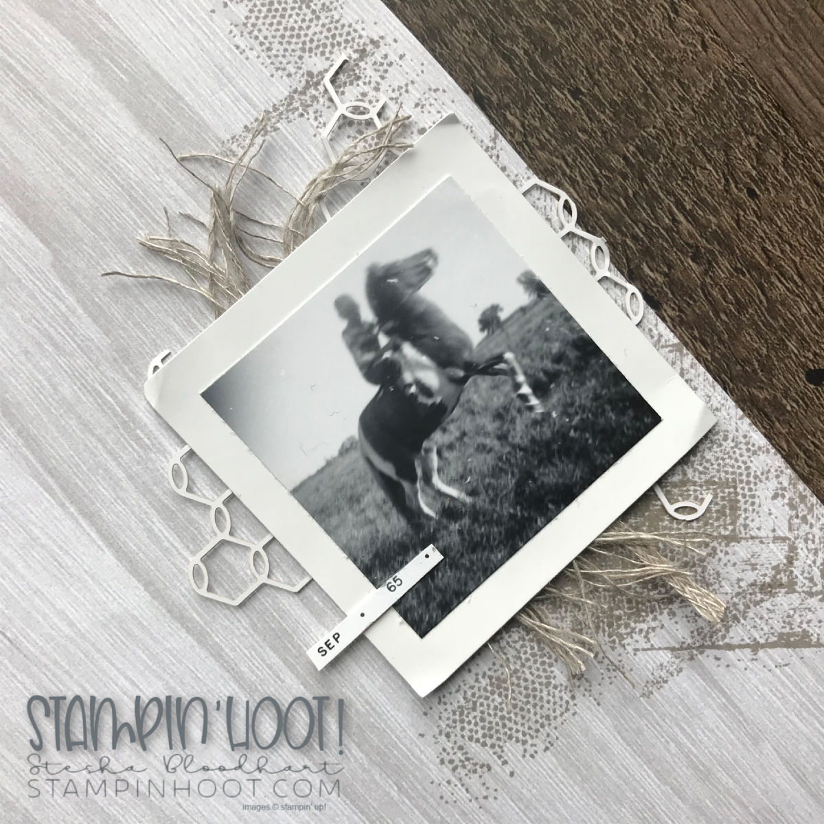Scrapbooking Global Blog Hop September 2018 Theme Masculine, Layout created by Design Team Member Stesha Bloodhart, Stampin' Hoot! #steshabloodhart #stampinhoot