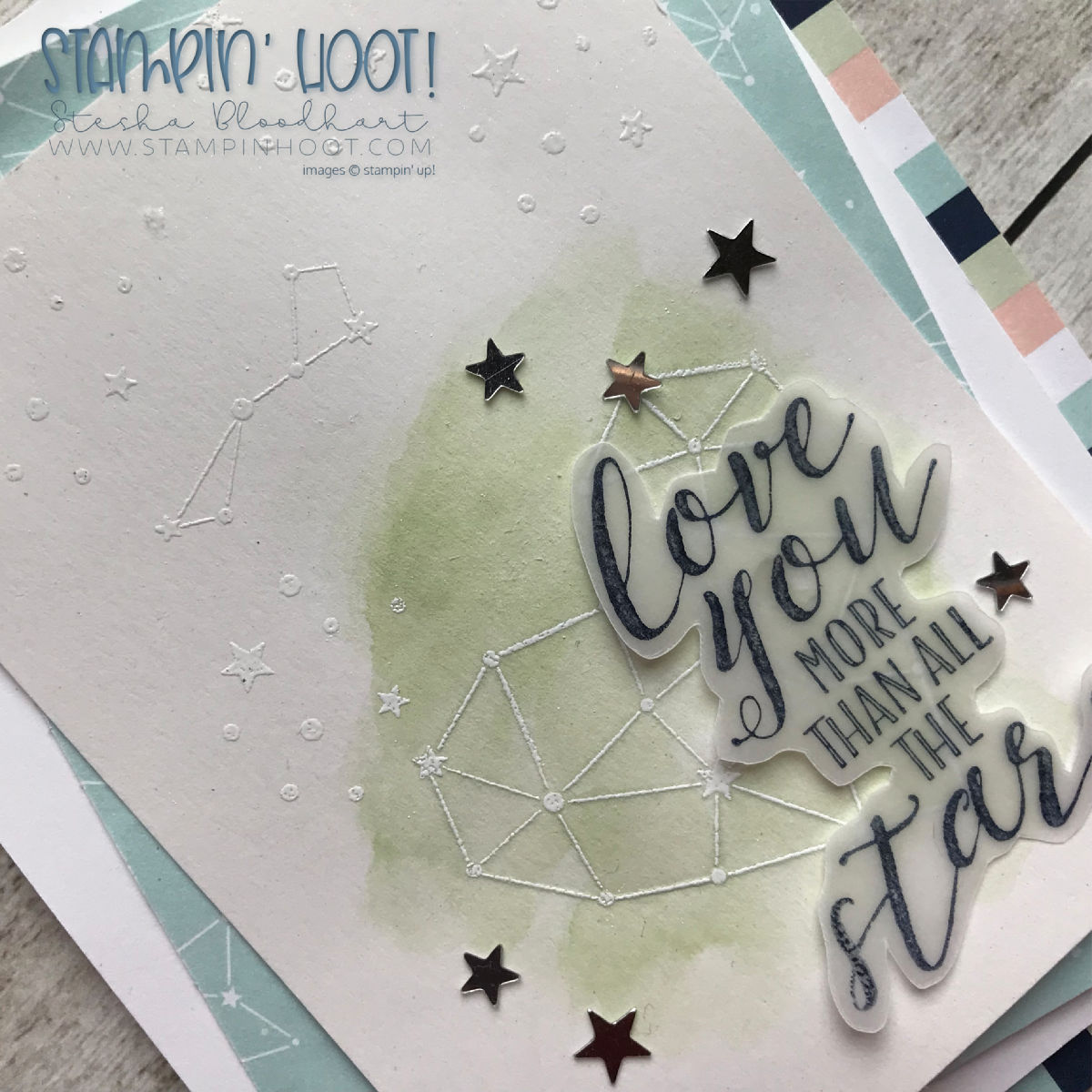 Little Twinkle Stamp Set by Stampin' Up! Card created by Stesha Bloodhart, Stampin' Hoot! #steshabloodhart #stampinhoot Stamp Review Crew