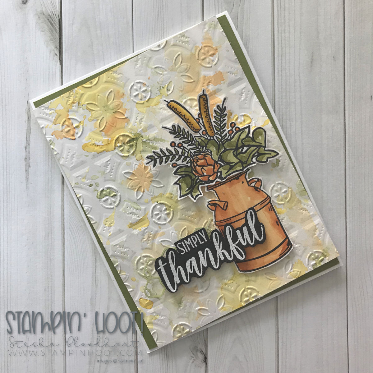 Country Home Stamp Set by Stampin' Up! Handmade Thankful Card by Stesha Bloodhart, Stampin' Hoot! for GDP161 Color Challenge #gdp161 #steshabloodhart #stampinhoot