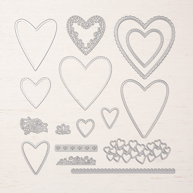 Be Mine Stitched Framelits Dies Available January 3, 2019 Occasions Catalog. Stampin' Up! #steshabloodhart #stampinhoot