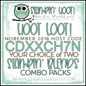 Free Hoot Loot - November 2018 - 2 FREE Stampin' Blends Combo Packs