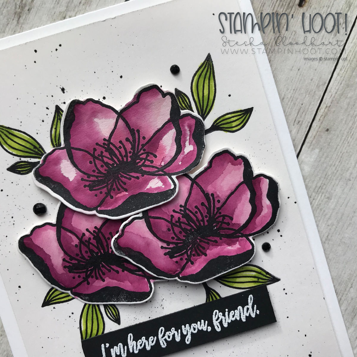 Beautiful Promenade Bundle by Stampin' Up! Sympathy Friend Card created by Stesha bloodhart, Stampin' Hoot! #tgifc185 #steshabloodhart #stampinhoot