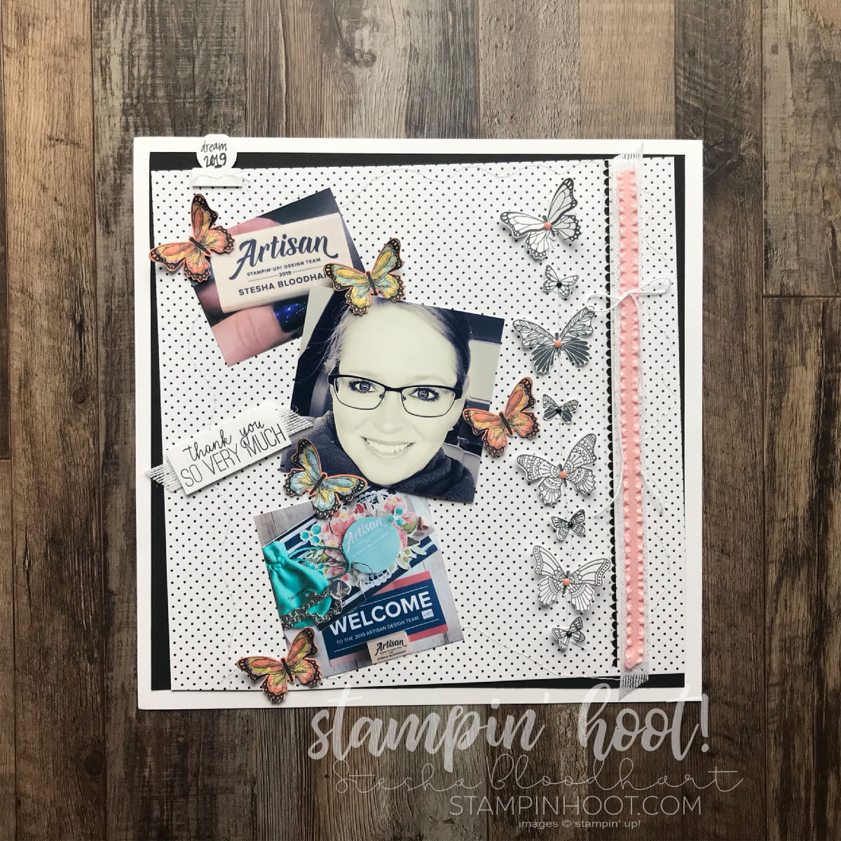 Scrapbooking Global December 2018 Challenge Stitching and Sewing