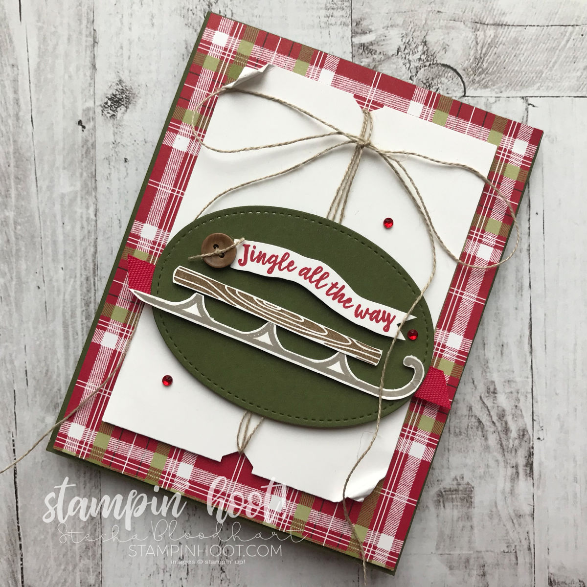Alpine Adventure Stamp Set by Stampin' Up! Stamp Review Crew. Card created by Stesha Bloodhart, Stampin' Hoot!