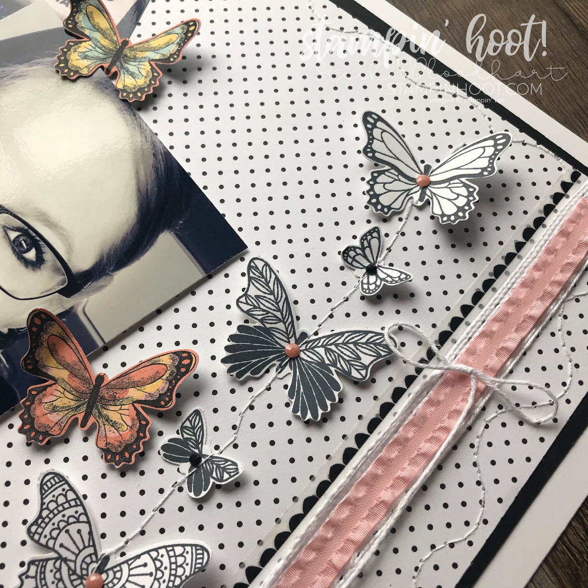Scrapbooking Global Blog Hop - Layout by Design Team Member Stesha Bloodhart. Stampin' Hoot! #steshabloodhart #stampinhoot