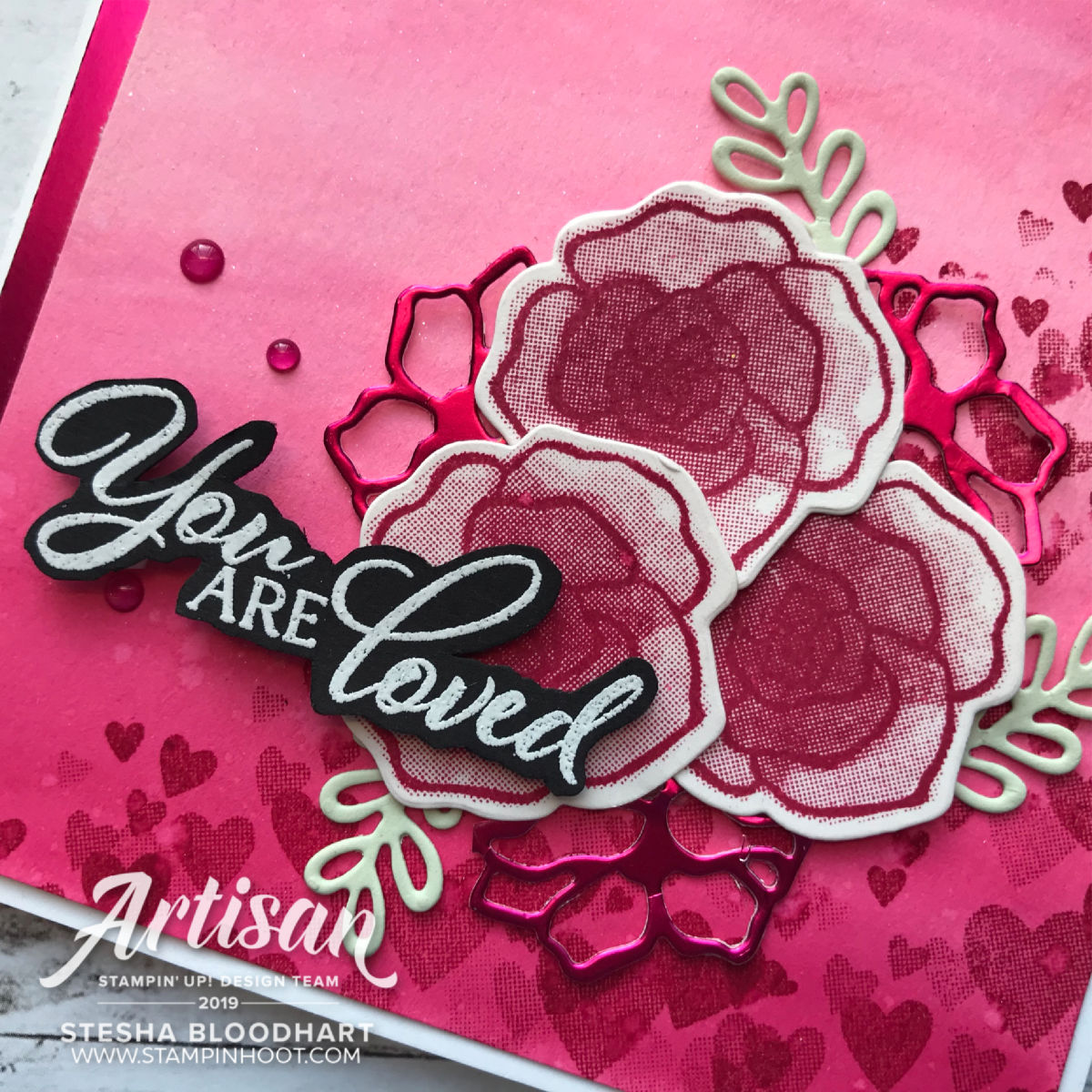 Valentine Card Duo using the Forever Lovely Bundle by Stampin' Up! Created by Stesha Bloodhart, Stampin' Hoot! for the Stamp Review Crew
