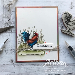 Home to Roost Cling Stamp Set - FREE with $50+ Product Purchase during Sale-A-Bration. Handmade by Stesha Bloodhart, Stampin