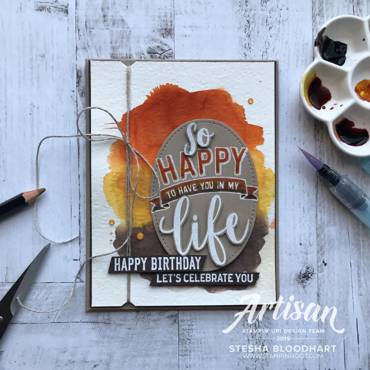 Happy 5th Birthday Preston, Amazing Life Birthday Card by Stesha Bloodhart, Stampin' Hoot! 2019 Artisan