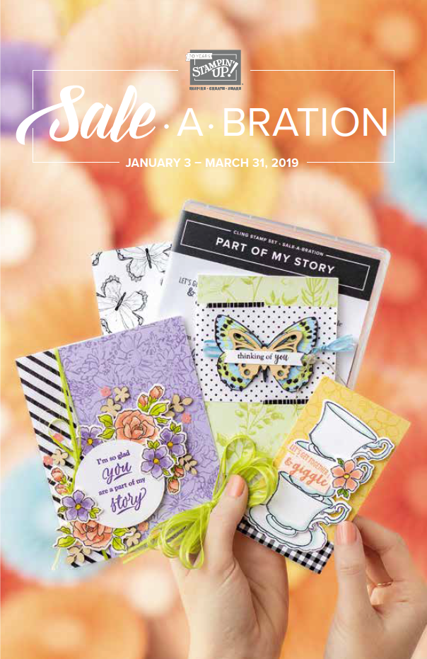 Download or Order a FREE Copy of the Stampin' Up! 2019 Sale-a-Bration Catalog NOW! . #steshabloodhart #stampinhoot