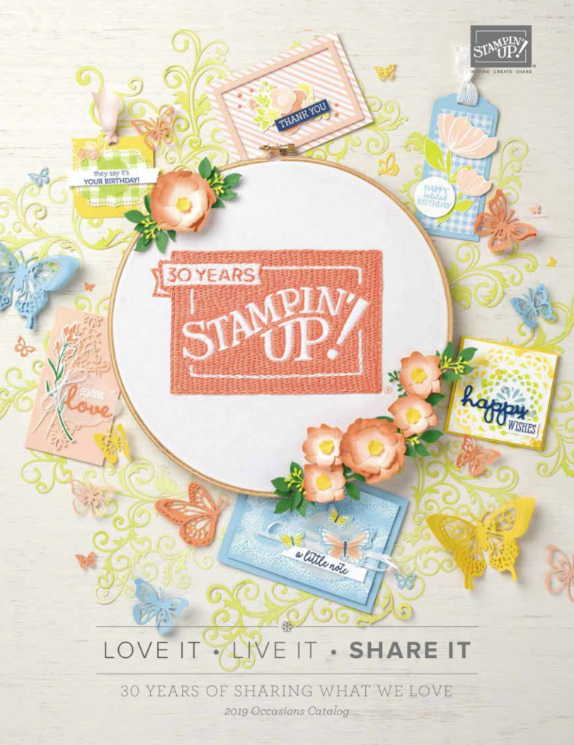 Download or Order a FREE Copy of the Stampin' Up! 2019 Occasions Catalog NOW! . #steshabloodhart #stampinhoot