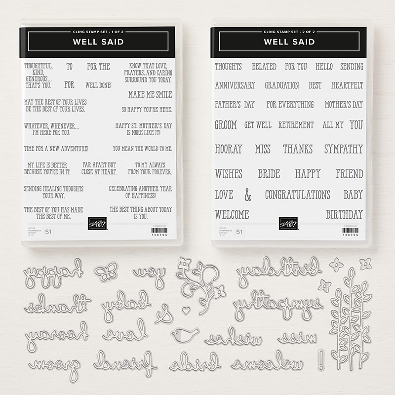 Well Said Cling Bundle by Stampin' Up! 150609