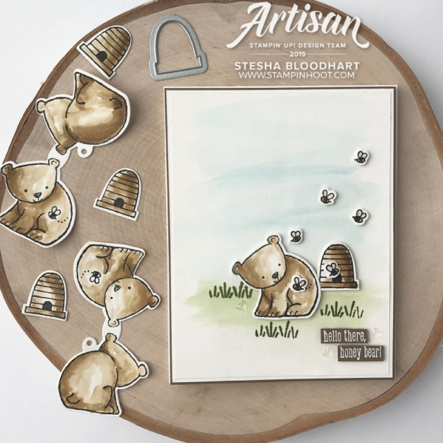 A Little Wild Stamp Set and Little Loves Framelits Dies from Stampin' Up! Card created by Stesha Bloodhart, Stampin' Hoot! 2019 Artisan Design Team