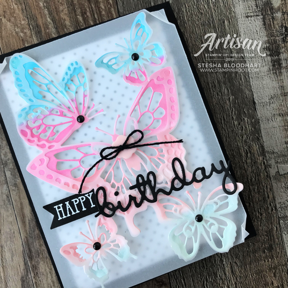 Beauty Abounds and Well Said Bundle by Stampin' Up! Birthday Card by Stesha Bloodhart Stampin' Hoot #tgifc200