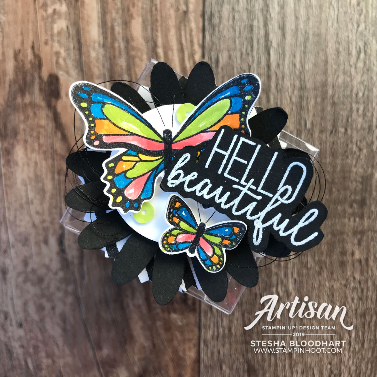 Butterfly Gala by Stampin' Up! Handmade creations by Stesha Bloodhart, Stampin' Hoot!