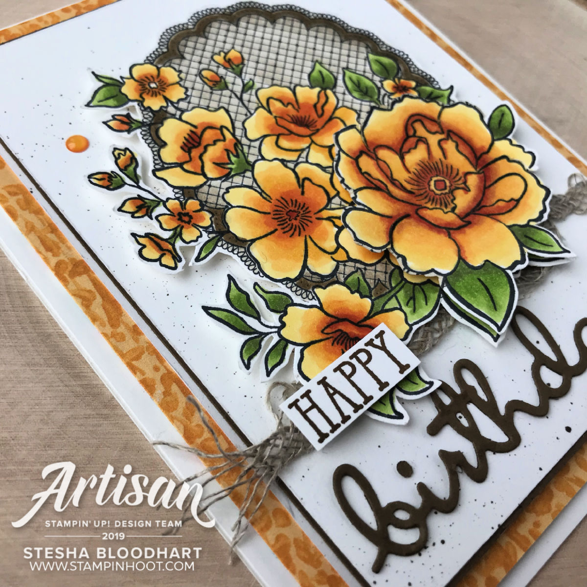 Lovely Lattice Cling Mount Sale-A-Bration Stamp Set by Stampin' Up! Earn FREE with a $50 Purchase Card created by Stesha Bloodhart, Stampin' Hoot! 2019 Artisan Design Team