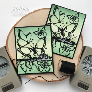 "From #ArtisanDesignTeam member Stesha Bloodhart (@stampinhoot): ""Utilize various Stampin' Up! Punches to create artistic notches to hold Baker's Twine, Linen Thread, and thin ribbon securely in place. The Daisy and Classic Label Punch are just two of the many options available. Think outside the box and the possibilities are endless."""