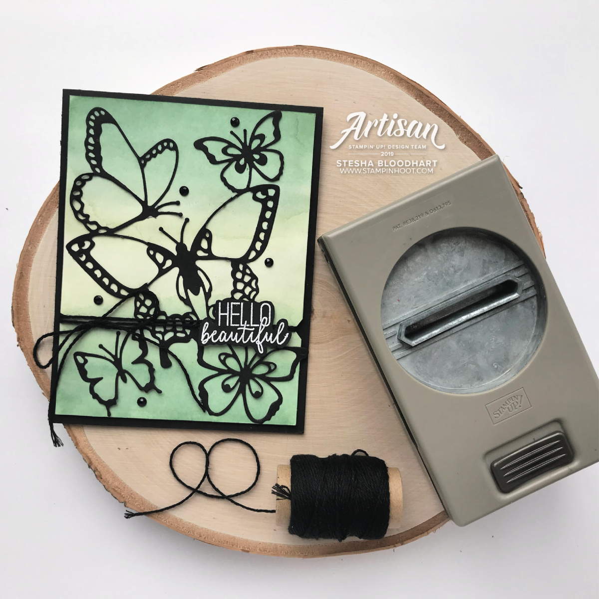 "From #ArtisanDesignTeam member Stesha Bloodhart (@stampinhoot): ""Utilize various Stampin' Up! Punches to create artistic notches to hold Baker's Twine, Linen Thread, and thin ribbon securely in place. The Daisy and Classic Label Punch are just two of the many options available. Think outside the box and the possibilities are endless."" Stesha Bloodhart, Stampin' Hoot!"