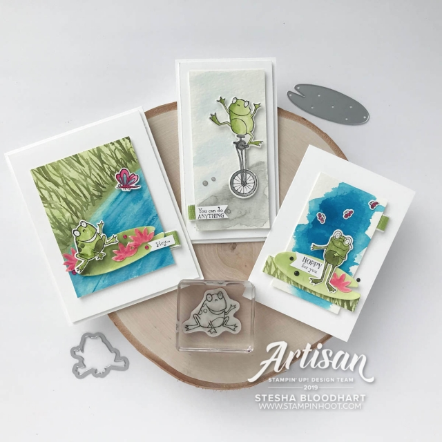 Hop Around Framelits Dies by Stampin' Up! coordinate with Sale-a-Bration Stamp Set So Hoppy Together. Cards created by 2019 Artisan Design Team Member #steshabloodhart #stampinhoot #2019artisandesignteam
