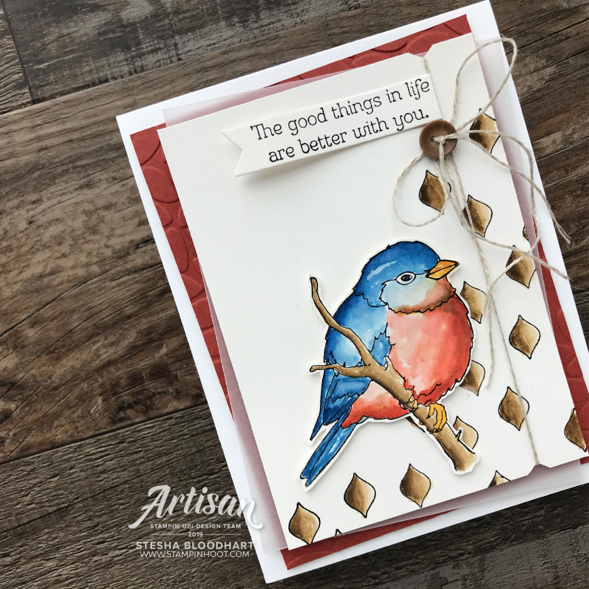 Better With You Stamp Set by Stampin' Up! Card by Stesha Bloodhart, Stampin' Hoot!